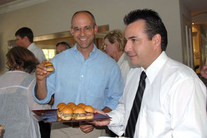 Winemaker David DeSante enjoying Lamb Sliders!