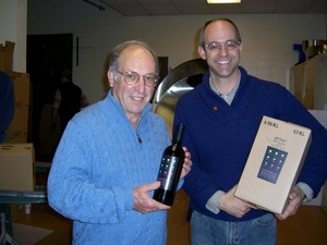 Gary and David DeSante after bottling